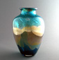 Aquamarine Glass Vase