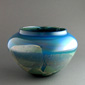 Silver Blue Glass Bowl